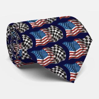 OPUS CHANGEABLE American Racing Flag Neck Tie