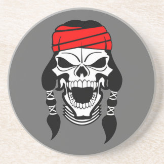OPUS CHANGEABLE Apache Indian Skull Sandstone Coaster