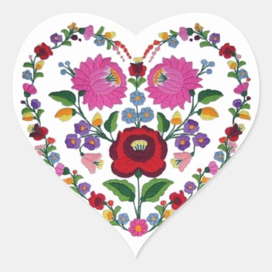 OPUS CHANGEABLE Hungarian Heart Heart Sticker