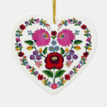OPUS CHANGEABLE Hungarian Heart TBA Double-Sided Heart Ceramic Christmas Ornament