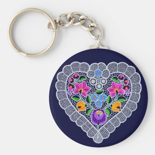 OPUS CHANGEABLE Lace Heart Keychain