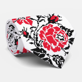 OPUS CHANGEABLE Ukrainian Embroidery Rose Neck Tie
