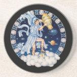 OPUS CHANGEABLE Zodiac Aquarius Beverage Coasters