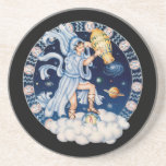 OPUS CHANGEABLE Zodiac Aquarius Drink Coaster