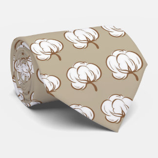 OPUS Cotton Boll - Double Sided Neck Tie