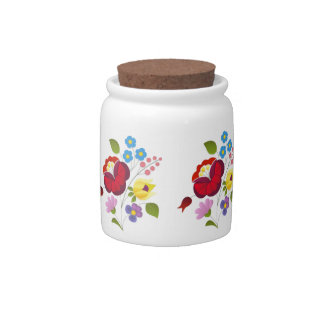 OPUS Hungarian Flower Embroidery Candy Jars