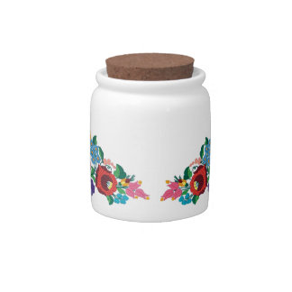 OPUS Hungarian Flower Embroidery Candy Jar
