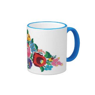 OPUS Hungarian Flower Embroidery Coffee Mugs