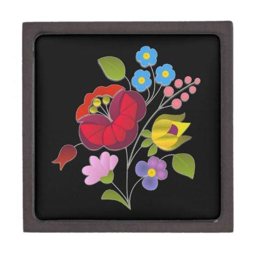 OPUS Hungarian Flower Embroidery Premium Trinket Box