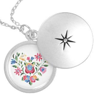 OPUS Hungarian Flower Heart Locket Necklace