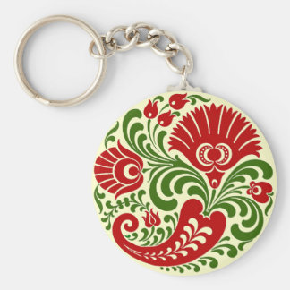 OPUS Hungarian Paprika Flower Embroidery Keychain