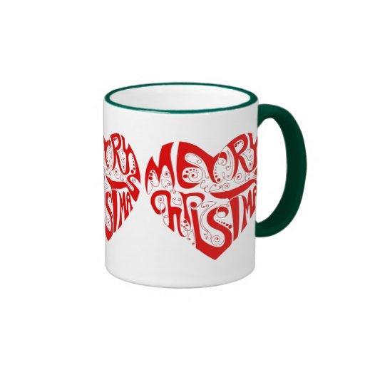 OPUS Merry Christmas Heart Ringer Coffee Mug