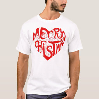 OPUS Merry Christmas Heart T-Shirt