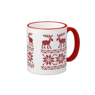 OPUS Merry Moose Ringer Coffee Mug