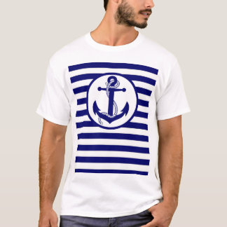 OPUS Navy Stripe and Anchor T-Shirt