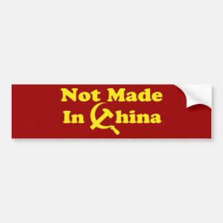 OPUS Not Made in China Bumper Sticker