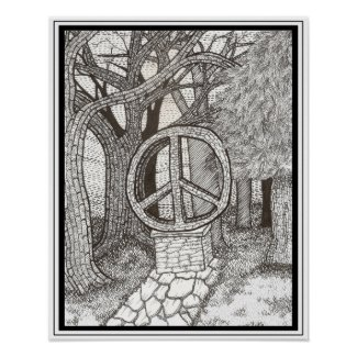 Opus Peace Poster print