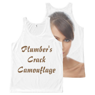 OPUS Plumber's Crack Camouflage All-Over-Print Tank Top