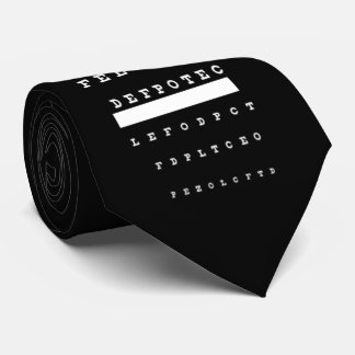 OPUS Snellen Eye Chart Neck Tie