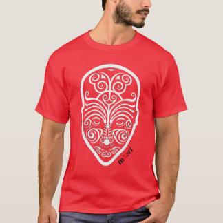 OPUS White Maori Face Tattoo T-Shirt