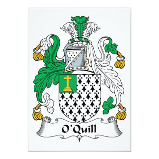 O'Quill Family Crest Card