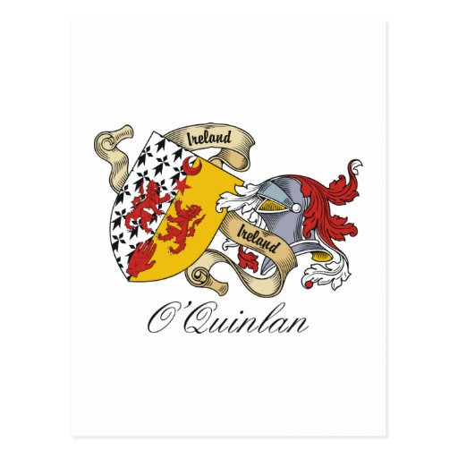 O'Quinlan Family Crest Postcard
