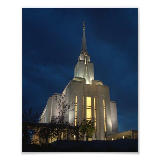 Oquirrh LDS Temple Photo Print