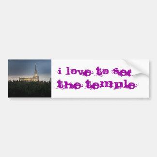 oquirrh mountain lds utah temple bumper sticker