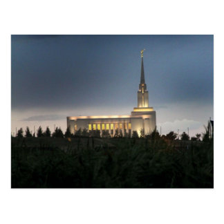 oquirrh mountain lds utah temple postcard