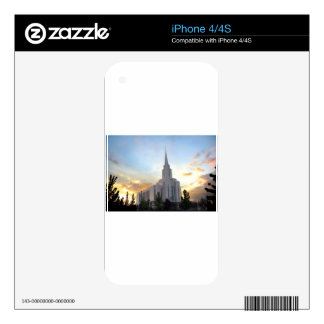 Oquirrh Mountain LDS Utah Temple sunset Decals For The iPhone 4