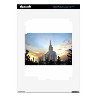 Oquirrh Mountain LDS Utah Temple sunset Skin For iPad 3