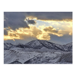 Oquirrh Mountains In Utah Winter Snow Capped Postcard