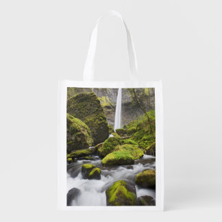 OR, Columbia River Gorge, Elowah Falls and Grocery Bags