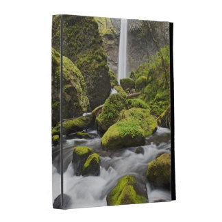 OR, Columbia River Gorge, Elowah Falls and iPad Folio Covers