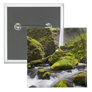 OR, Columbia River Gorge, Elowah Falls and Pinback Button