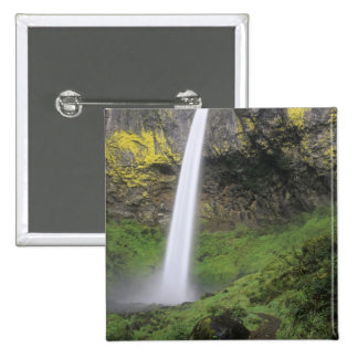 OR, Columbia River Gorge, Elowah Falls, McCord 2 Pinback Button