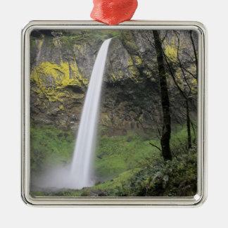 OR, Columbia River Gorge, Elowah Falls, McCord Metal Ornament