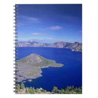 OR, Crater Lake NP, Wizard Island and Crater Notebook