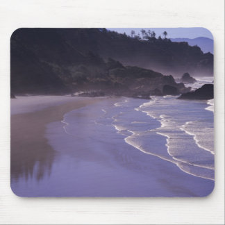 OR, Ecola SP, Indian Beach with morning fog Mouse Pad