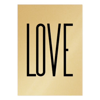 Or Élégante - Love Large Business Cards (Pack Of 100)