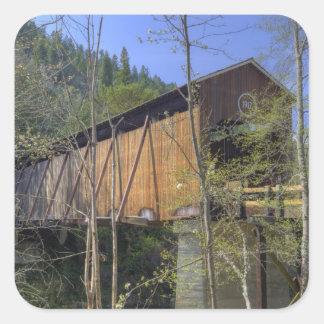 OR, Jackson County, McKee Covered Bridge 2 Square Sticker
