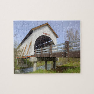 OR, Jackson County, Wimer Covered Bridge Jigsaw Puzzle