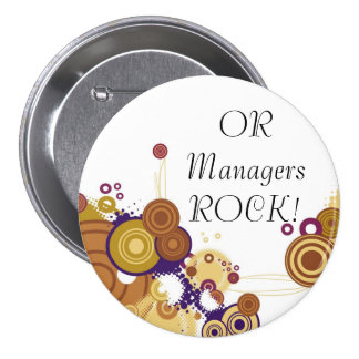 OR Manager 5 Pinback Buttons