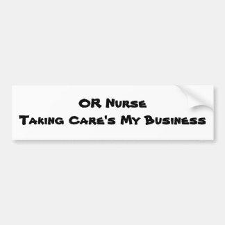 OR Nurse Bumper Sticker