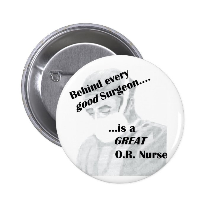 OR Nurse Pinback Button