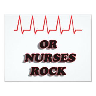 OR NURSES ROCK 4.25X5.5 PAPER INVITATION CARD
