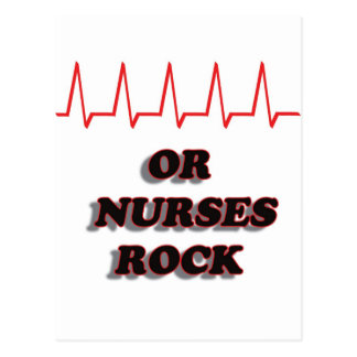 OR NURSES ROCK POSTCARD