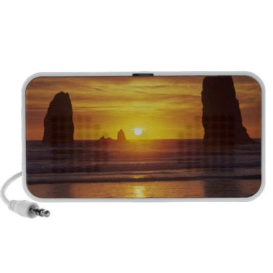 OR, Oregon Coast, Cannon Beach, seastacks at 2 Mini Speaker