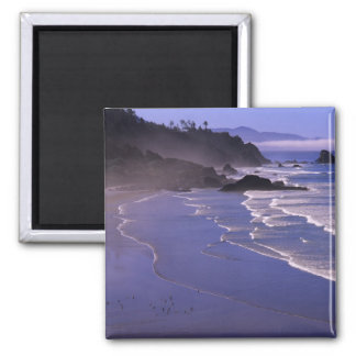 OR, Oregon Coast, Ecola SP, Indian Beach with 2 Inch Square Magnet