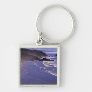OR, Oregon Coast, Ecola SP, Indian Beach with Keychain